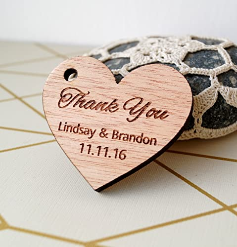 Amazon.com: Wedding favor tags, rustic wedding Thank you tags ...