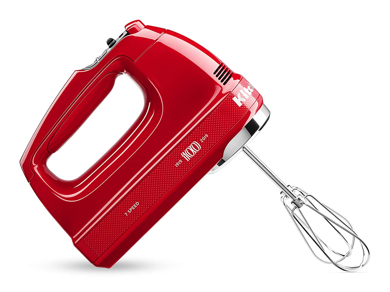 KitchenAid KHM7210QHSD 100 Year Limited Edition Queen of Hearts Hand Mixer, 7 Speed, Passion Red