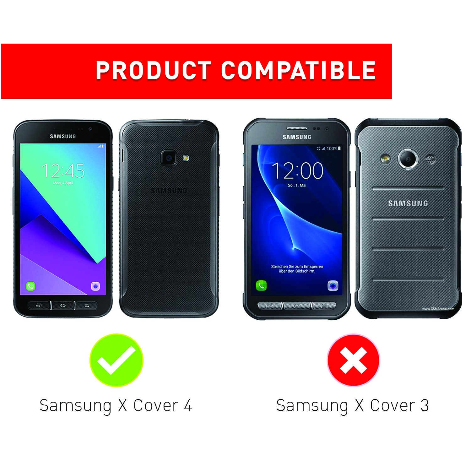 galaxy xcover 4 custodia rigida