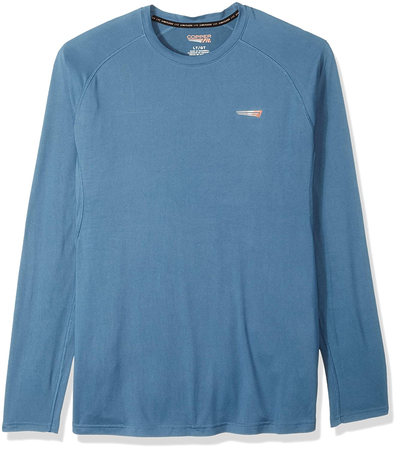 Copper Fit Mens Long Sleeve Crew Neck Tee