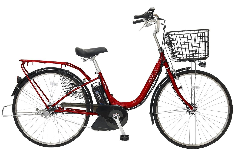 marukin(マルキン) 自転車 パンクしない電動アシスト 26型 ショプカHBプラス 大容量リチウム8.7Ah 内装3段 ダークレッド MK-15-019 MK-15-019   B01CN5KM84
