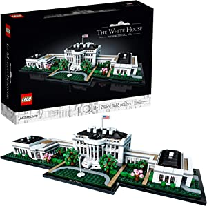 LEGO Architecture Collection: The White House 21054 Model Building Kit, Creative Building Set for Adults, A Revitalizing DIY Project and Great Gift for Any Hobbyists, New 2020 (1,483 Pieces)