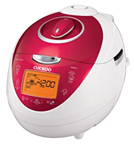 Cuckoo CRP-N0681F 6 Cups Electric Rice Cooker, 110v, Red