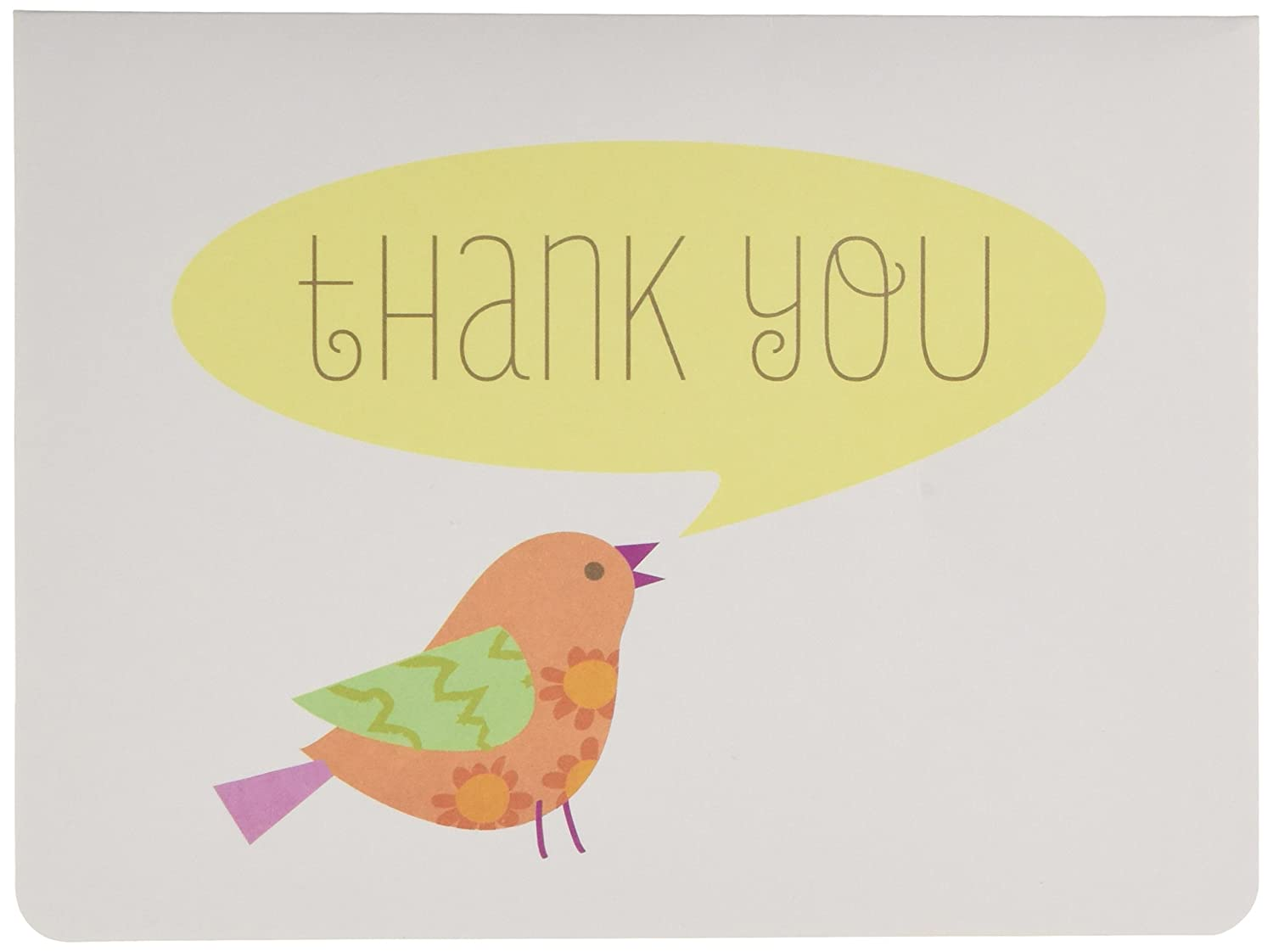 CRG C.R. Gibson Boxed Thank You Notes, Lil' Birdie, 10 Count Lil' Birdie NTT-13917