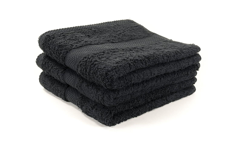 12 x algodón egipcio negro toallas de peluquería/salón toallas, 500GM, 50 x 85 cm ...: Amazon.es: Hogar