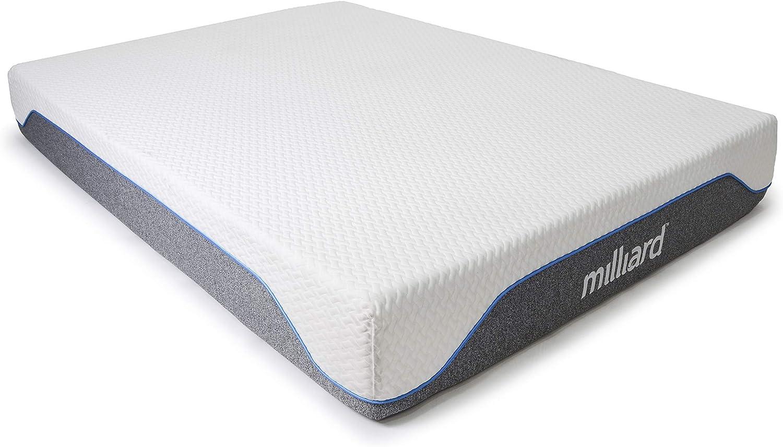 Milliard Memory Foam Mattress 10 inch Firm, Classic (Queen) 60x80x10 in