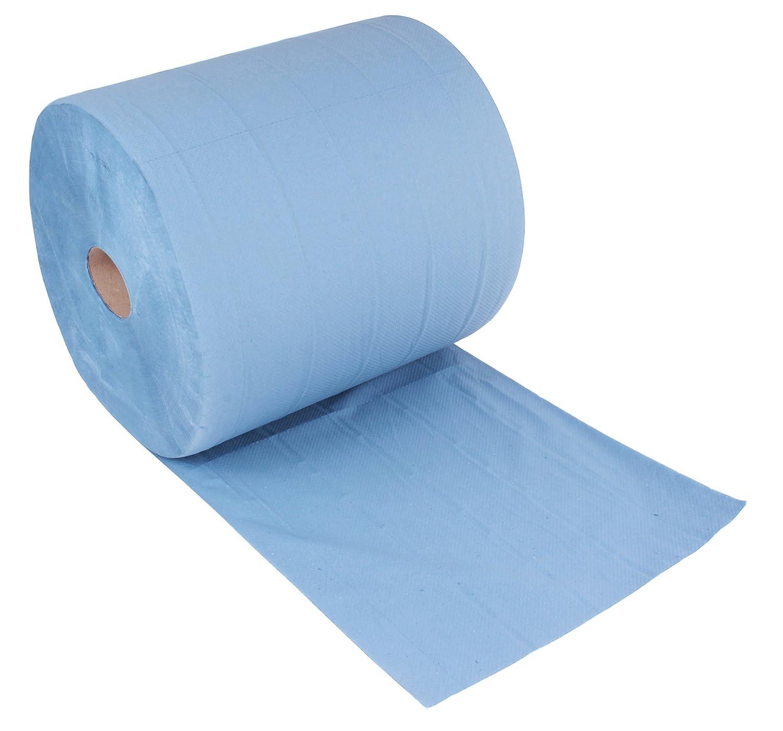 Putzpapier Putztuchrolle Putztücher Papiertücher Papier-Rollen blau 1000 Abrisse
