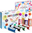 Ohuhu Dot Markers Kit, 8 Colors Paint Marker (40 Ml, 1.41 Oz.) With A Blank 30 Pages Marker Pad, Water-Based Non-Toxic Bingo Daubers For Kids Children (3 Ages +), Dot Art Markers Back To School Art