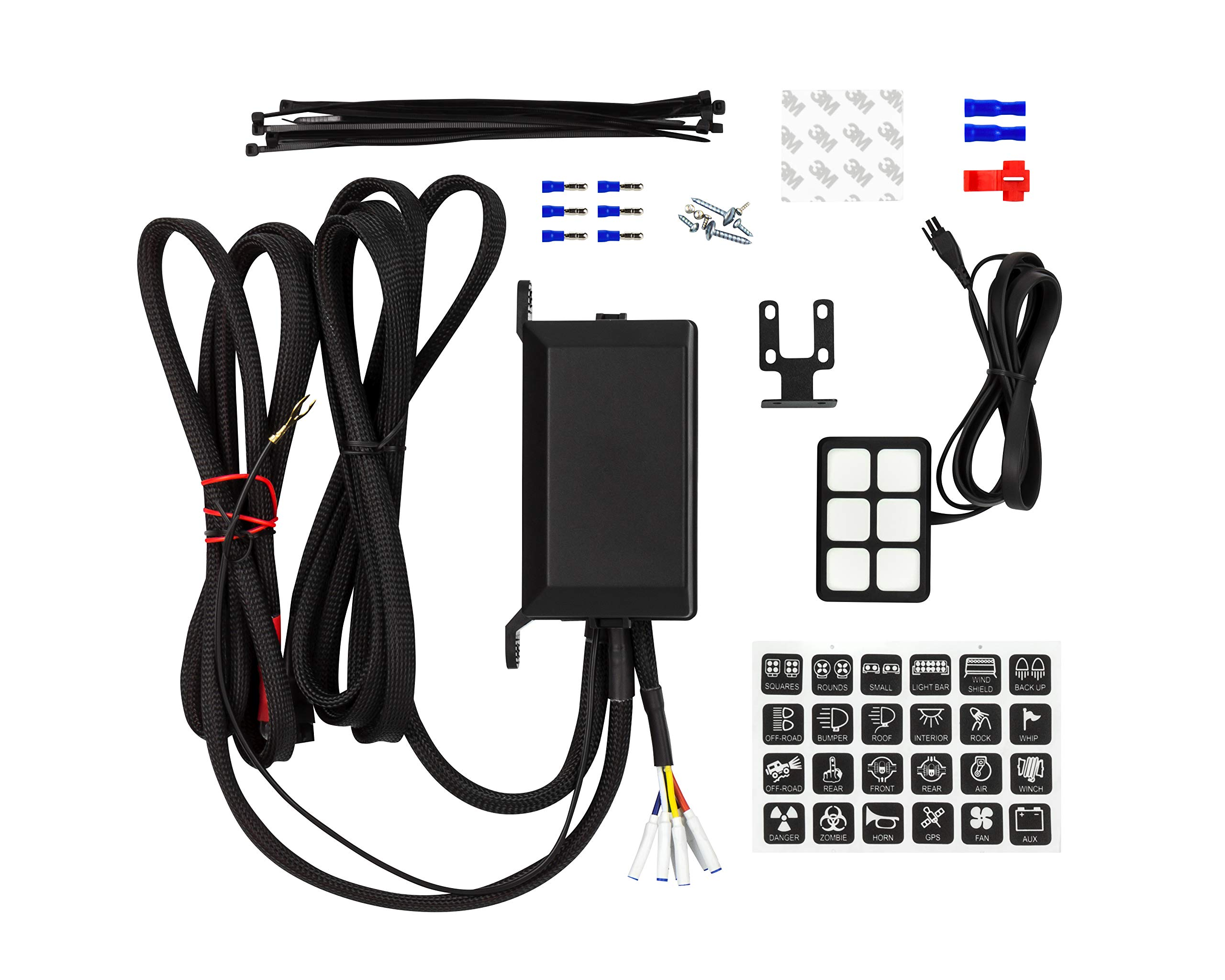 Bully AMA-300 Universal Accessory 6 Gang Switch Panel & 21.5'' LED Light Bar Kit by Bully