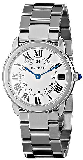 Cartier W6701004 - Reloj de pulsera mujer, acero inoxidable, color plateado: Cartier: Amazon.es: Relojes