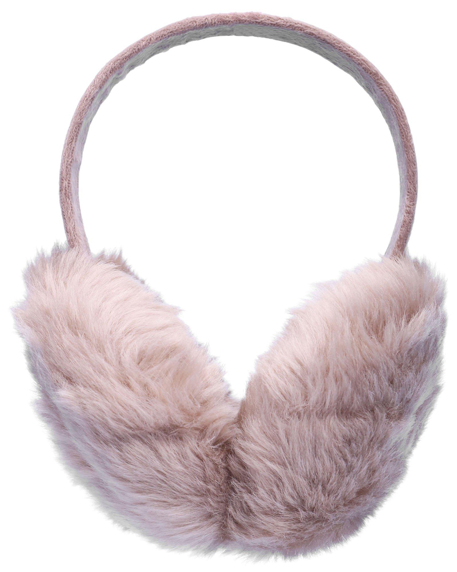Simplicity Women Men Insulated Furry Plush Ear Muffs Winter Earmuffs, Khaki