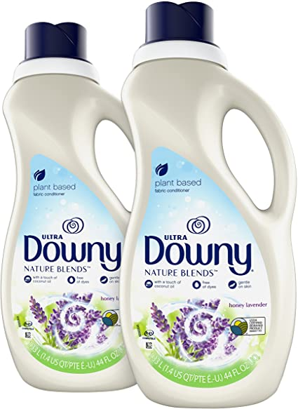 Amazon Com Downy Nature Blends Fabric Conditioner Fabric Softener Honey Lavender 44 Oz Bottles 2 Pack 104 Loads Total Health Personal Care