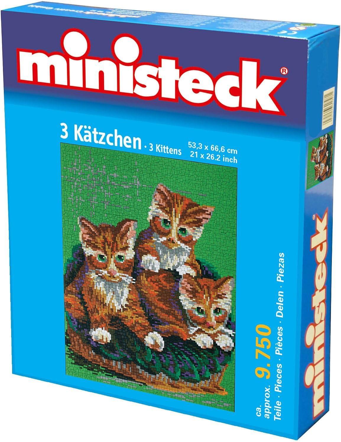 Ministeck 3 Katten Grondplaat 53,3 x 66,6 cm 9.750 delig, inc