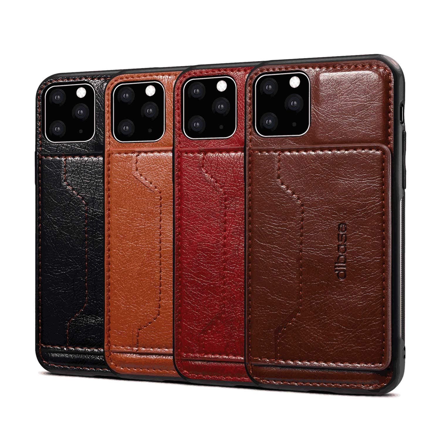 black PU Leather Wallet Flip Case for iPhone 11 Pro Max Positive Cover Compatible with iPhone 11 Pro Max