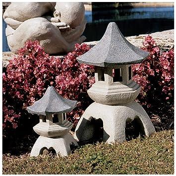Nice Asian Chinese Pagoda Lantern Sculpture Statue   Medium And Large