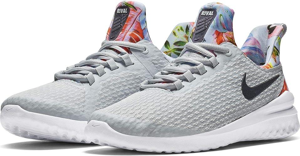 el más baratas 100% Calidad oficial de ventas calientes Amazon.com: Nike Renew Rival - Zapatillas de correr para mujer, color  blanco y platino: Shoes