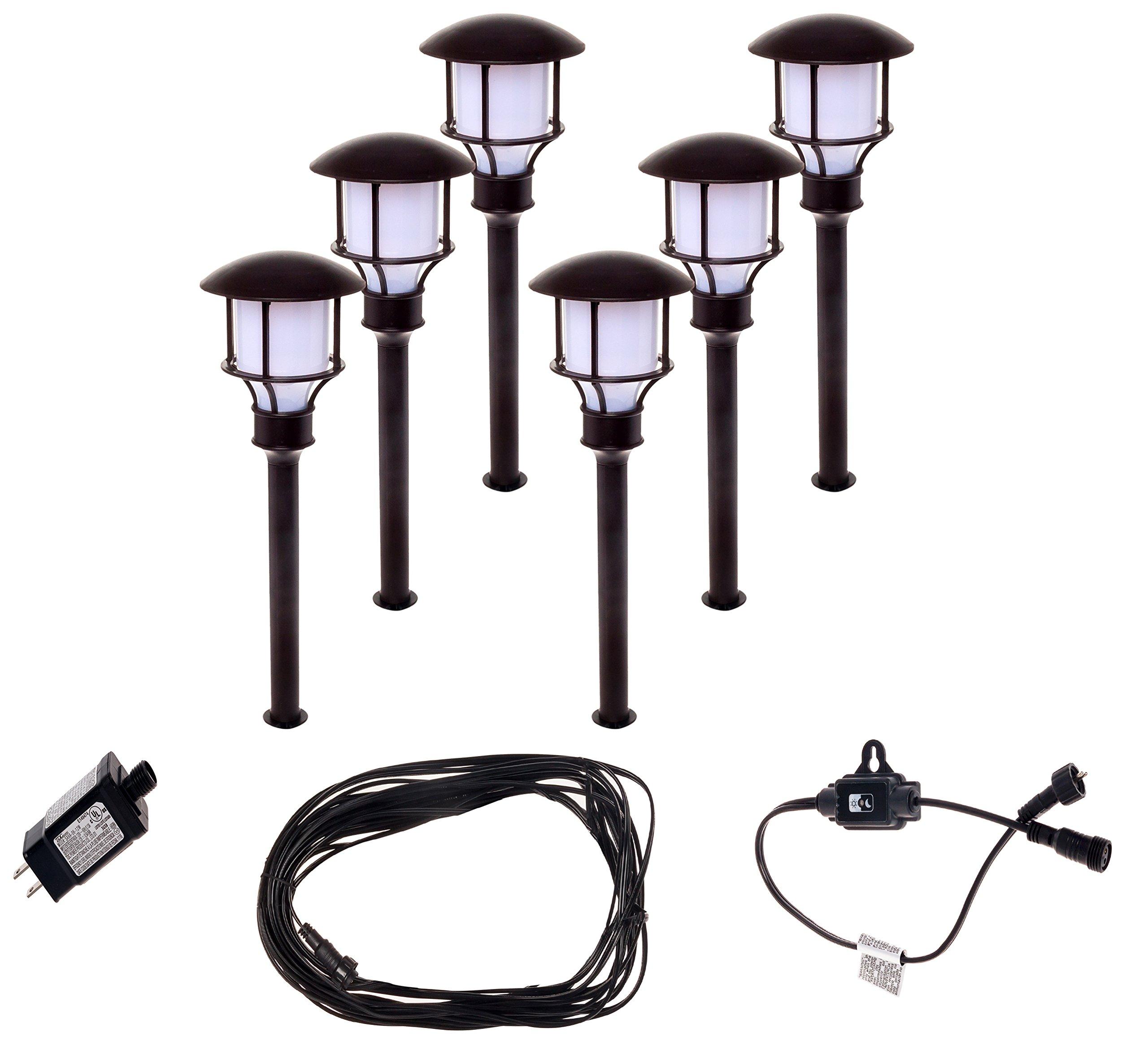 6 Pack Paradise GL33993BR 12V Low Voltage LED Path Lights