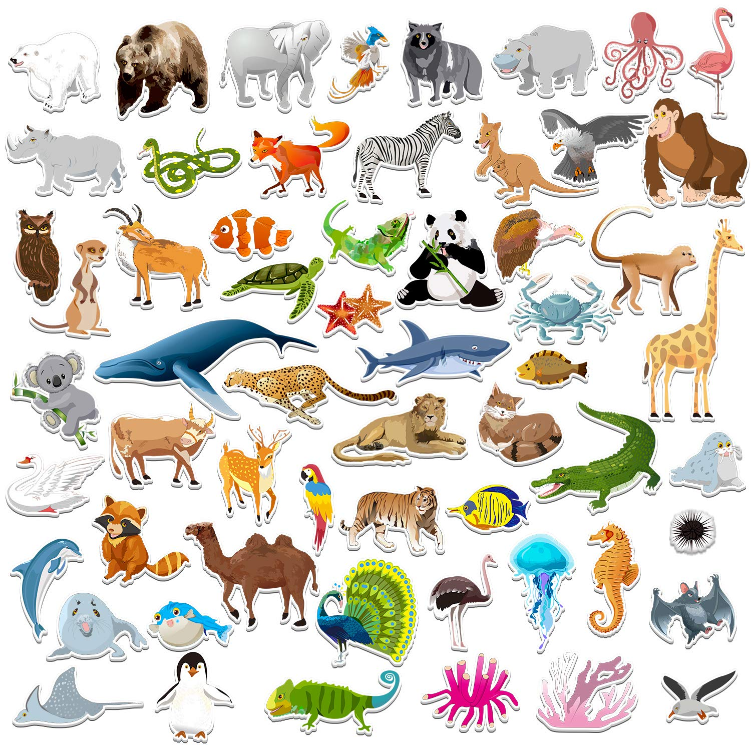 Spritegru 59 PCS Farm Animal Zoo Magnets for Toddlers Kids, Perfect Preschool Learning by Spritegru