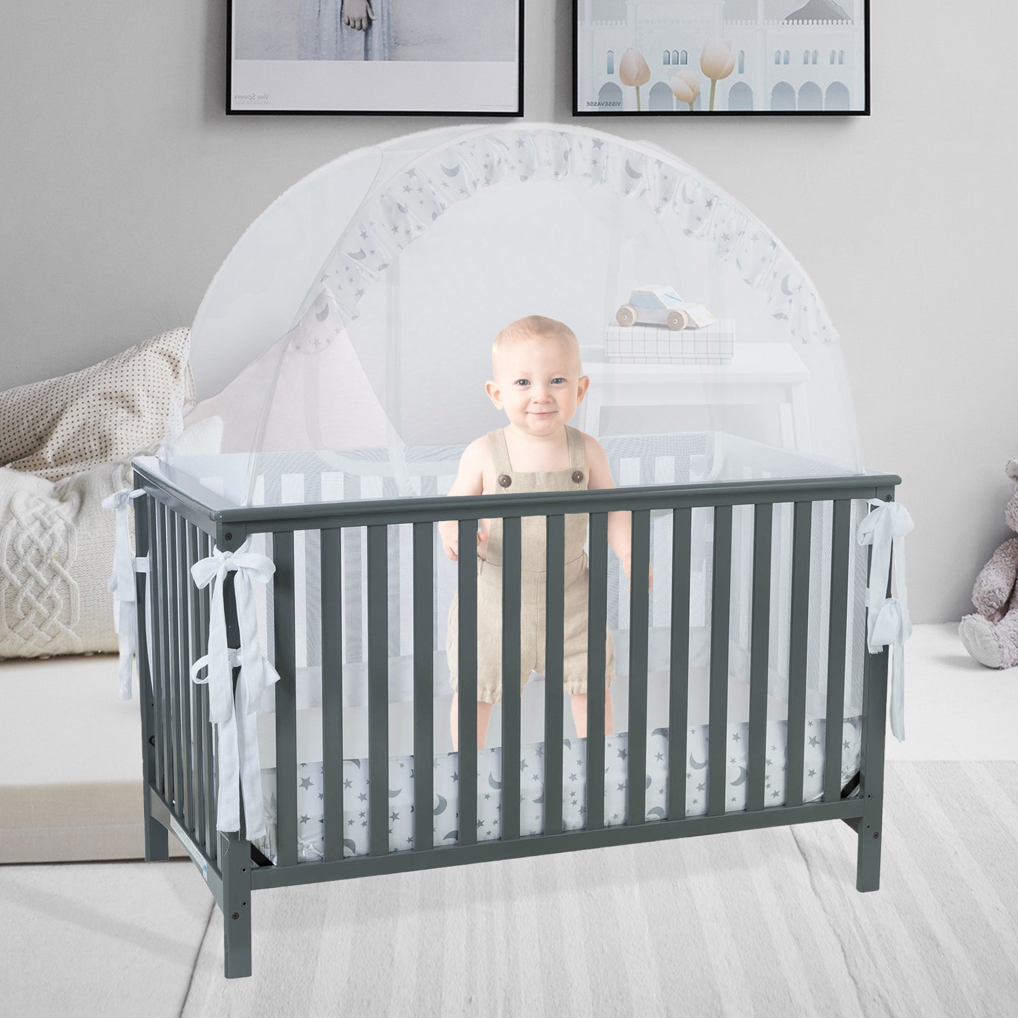 Baby Crib Tent Safety Net Pop Up Canopy Cover - Never Recalled  sc 1 st  eBay & Baby Crib Tent Safety Net Pop Up Canopy Cover - Never Recalled ...