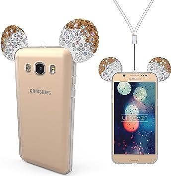 Urcover Samsung Galaxy J7 (2016) Funda Orejas de Ratón Brillante ...