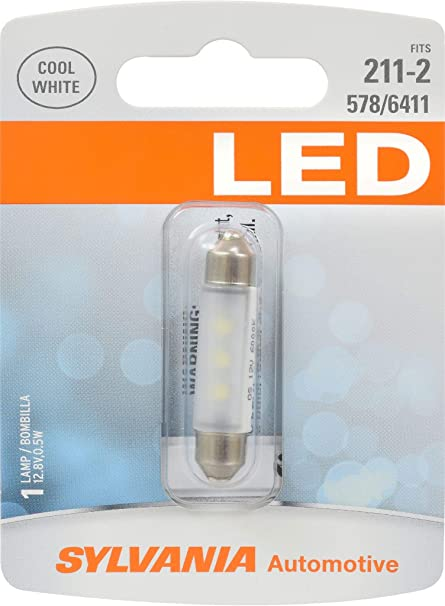 Sylvania Automotive Bulb Guide >> Sylvania 211 2 Led White Mini Bulb Bright Led Bulb Ideal For Interior Lighting Map Trunk Cargo And License Plate Contains 1 Bulb