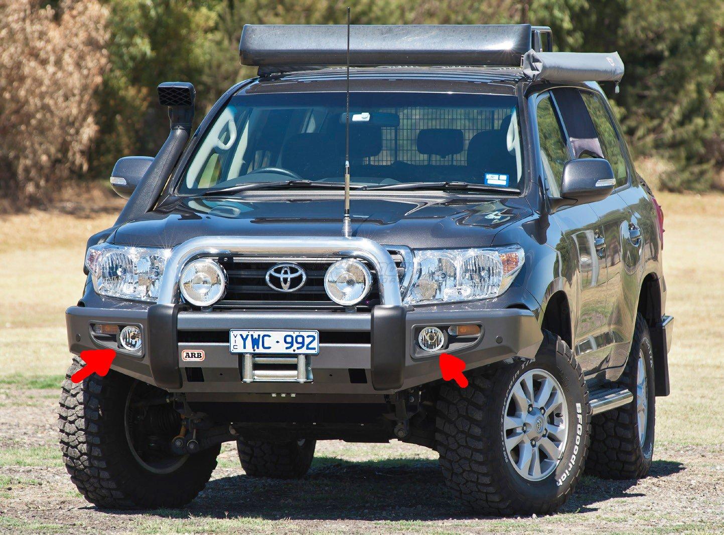 Angel Eye Fog Lamps Kit Toyota Land Cruiser ARB Bumper (Blue Halo ...