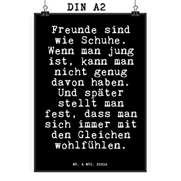 aed8a7319c71c0 Mr.   Mrs. Panda Poster DIN A2 mit Spruch