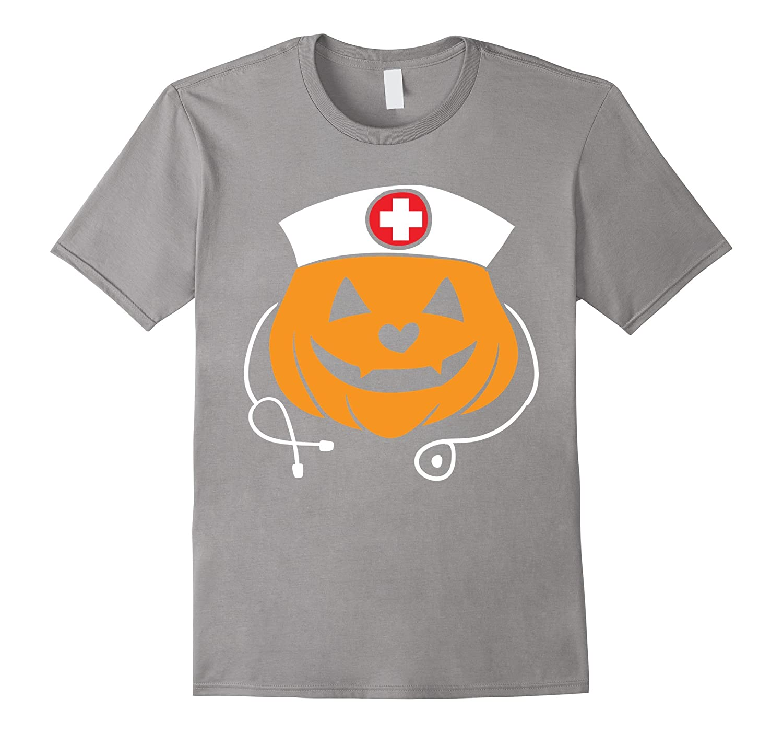 41f69d1c Nurse Halloween Costume T-Shirt - Pumpkin Nurse Tee-ANZ ⋆ Anztshirt