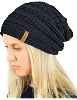 5ad039272d3 TOSKATOK® Ladies Mens Unisex Warm Winter Textured Knit Slouch Beanie hat  with Cosy…