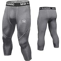 MEETWEE Conjunto Ropa De Compresión Hombre, 3/4 Leggings Manga Corta Camiseta,Largas Pantalón de Compresión Pantalones…