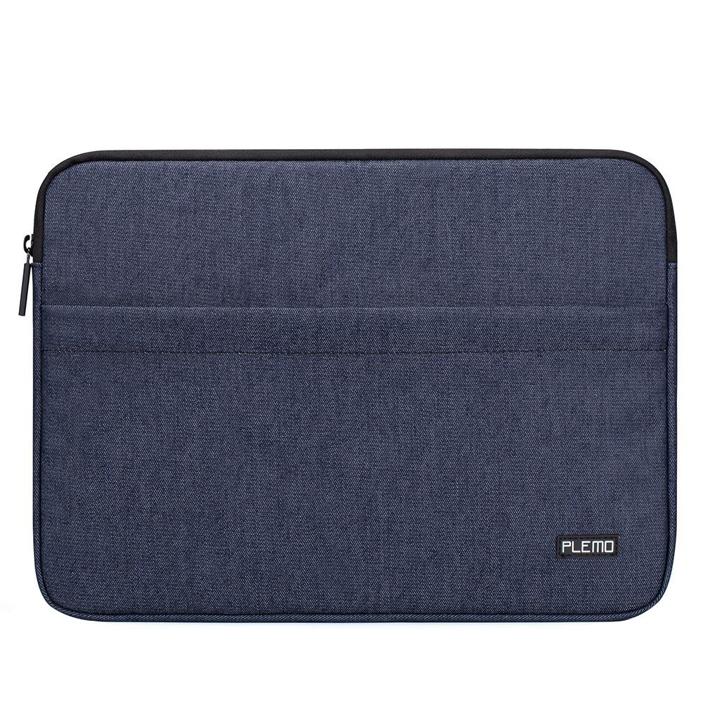 Plemo 15 - 15.6 Inch Laptop Sleeve Case Bag Cover for MacBook Pro / Notebook Compute/Acer/Asus/Dell/Fujitsu/Lenovo/HP/Samsung/Sony/Toshiba with Denim Fabric, Blue LC05-15