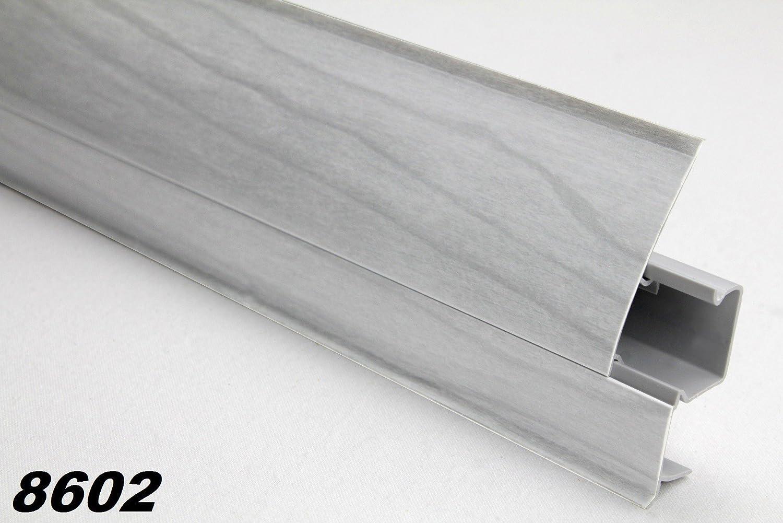 Fu/ßleisten 20 Meter PVC Sockelleisten Modern Kabelkanal Sockel 23x65mm 0107