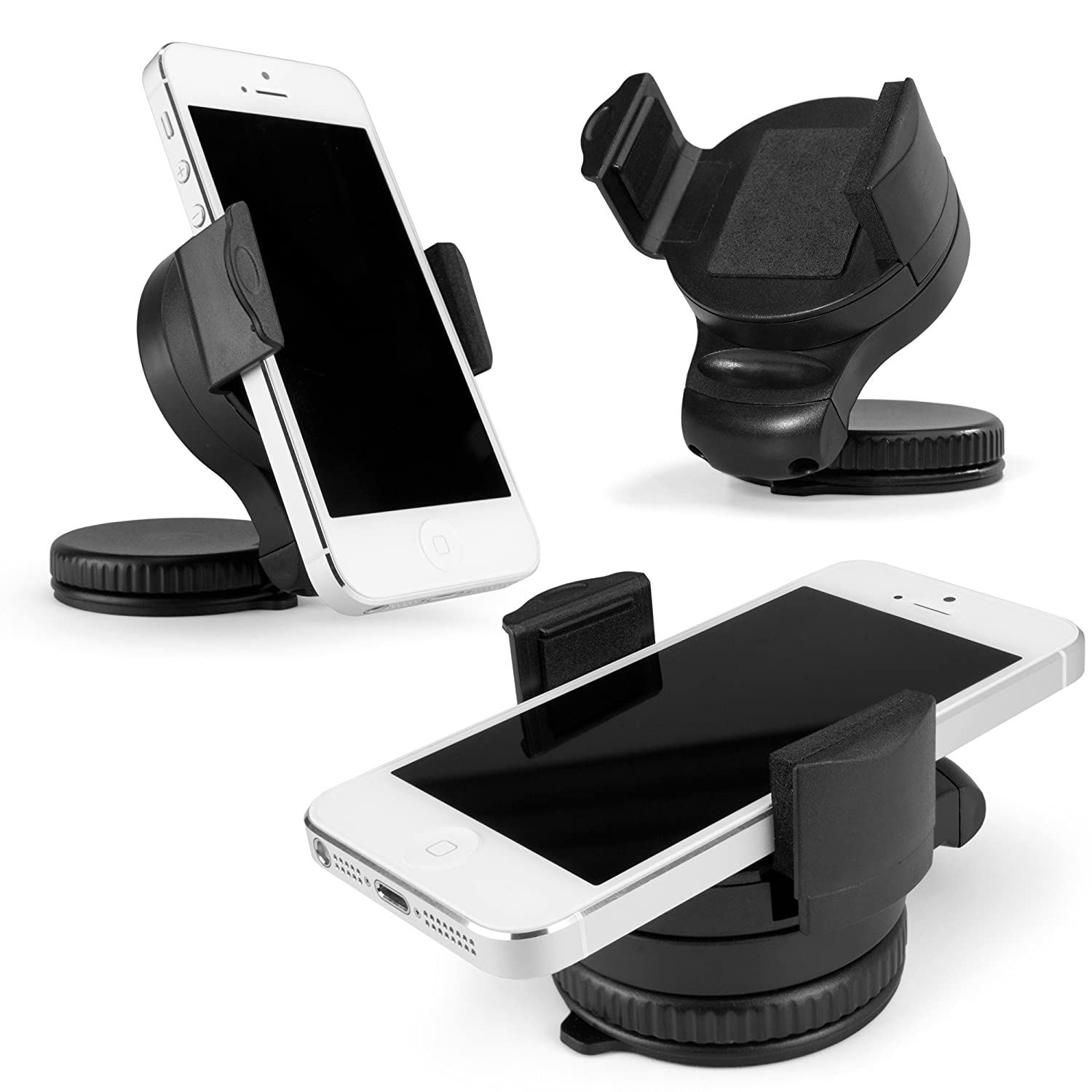 LG G Vista Stand and Mount Suction Mounted Car Mount with Adjustable Clamp for LG G Vista BoxWave TinyMount