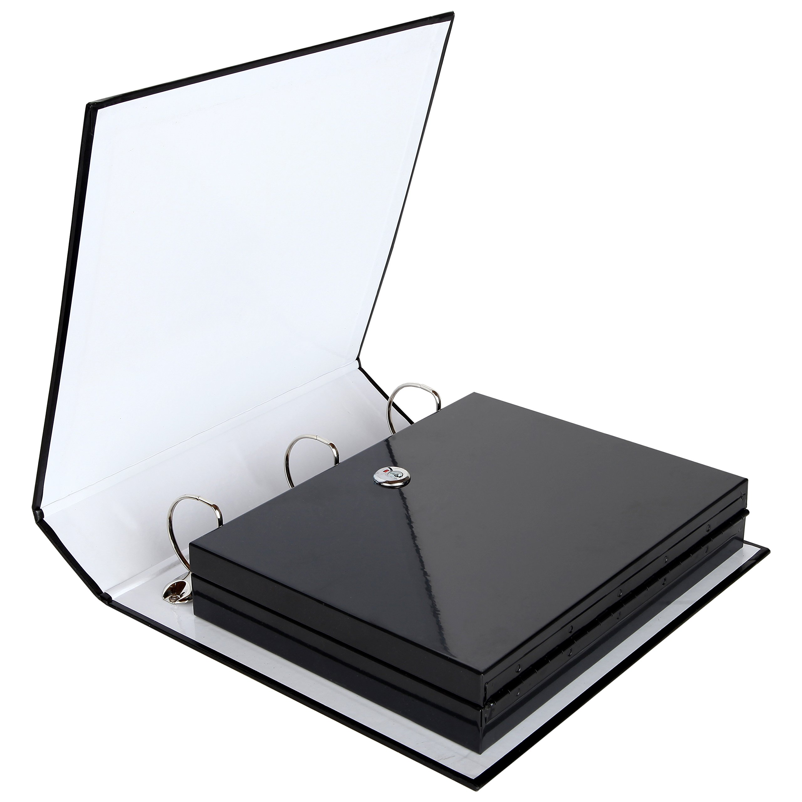 Safe Solutions Binder Diversion Safe with Lock (11.15'' x 8.7'') - Hidden Safe Container for Money, Jewelry or Valuables - Great for Home or Office - Convenient, Easy to Use - Durable Steel Construction