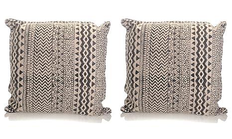 Amazon.com: Cojín de algodón con diseño geométrico gris ...