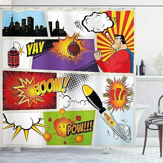 Batman The Animated Series Bathroom Waterproof Shower Curtain Decor 60x72 inch
