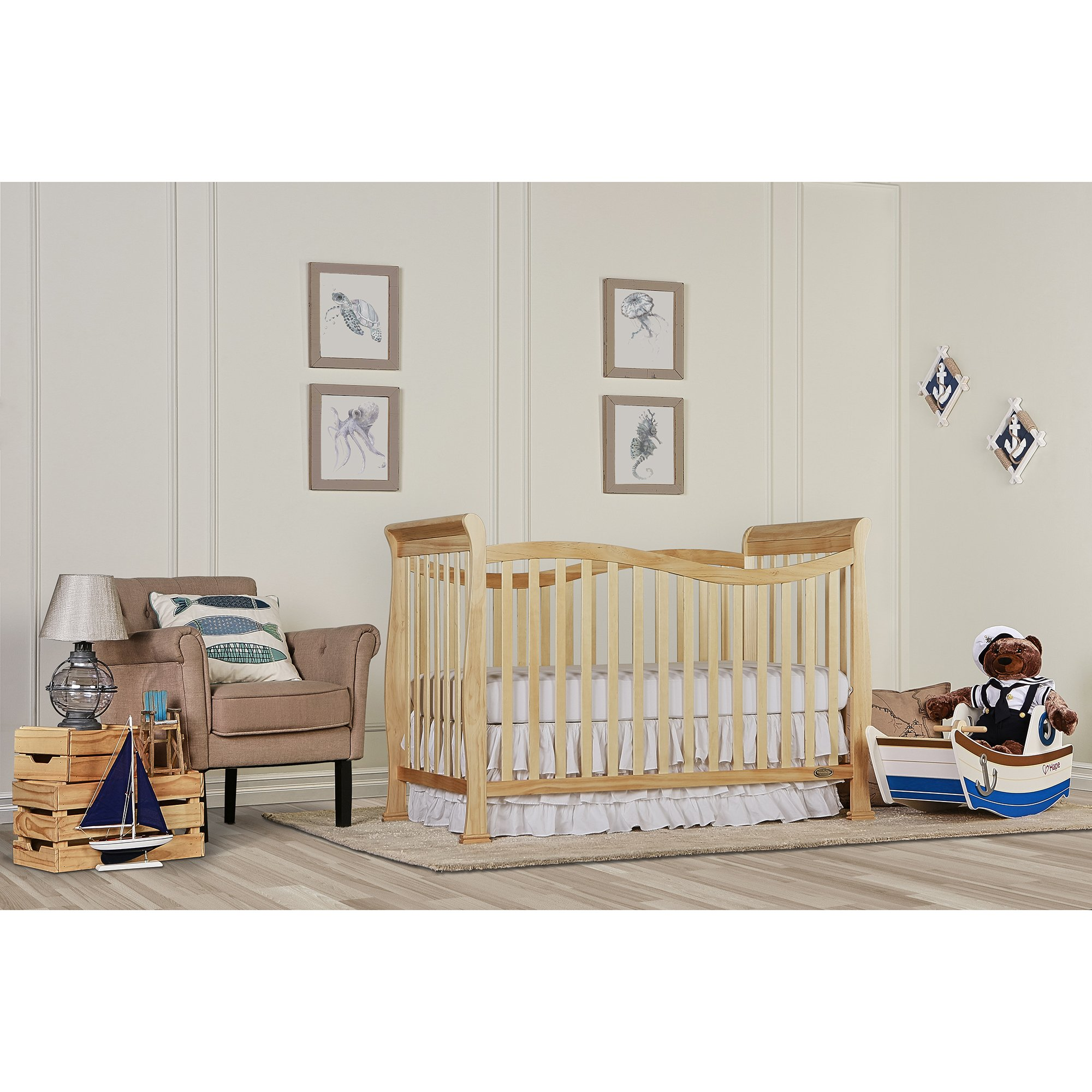 Dream On Me Violet 7 in 1 Convertible Life Style Crib, Natural by Dream On Me (Image #2)