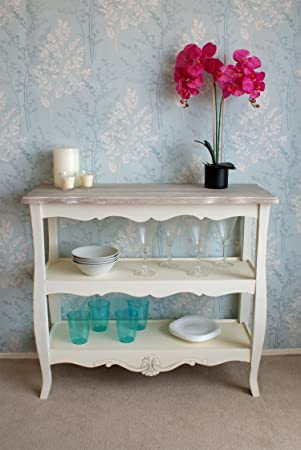 Casamor Devon 2 Shelf Console Table with French Inspired Shabby