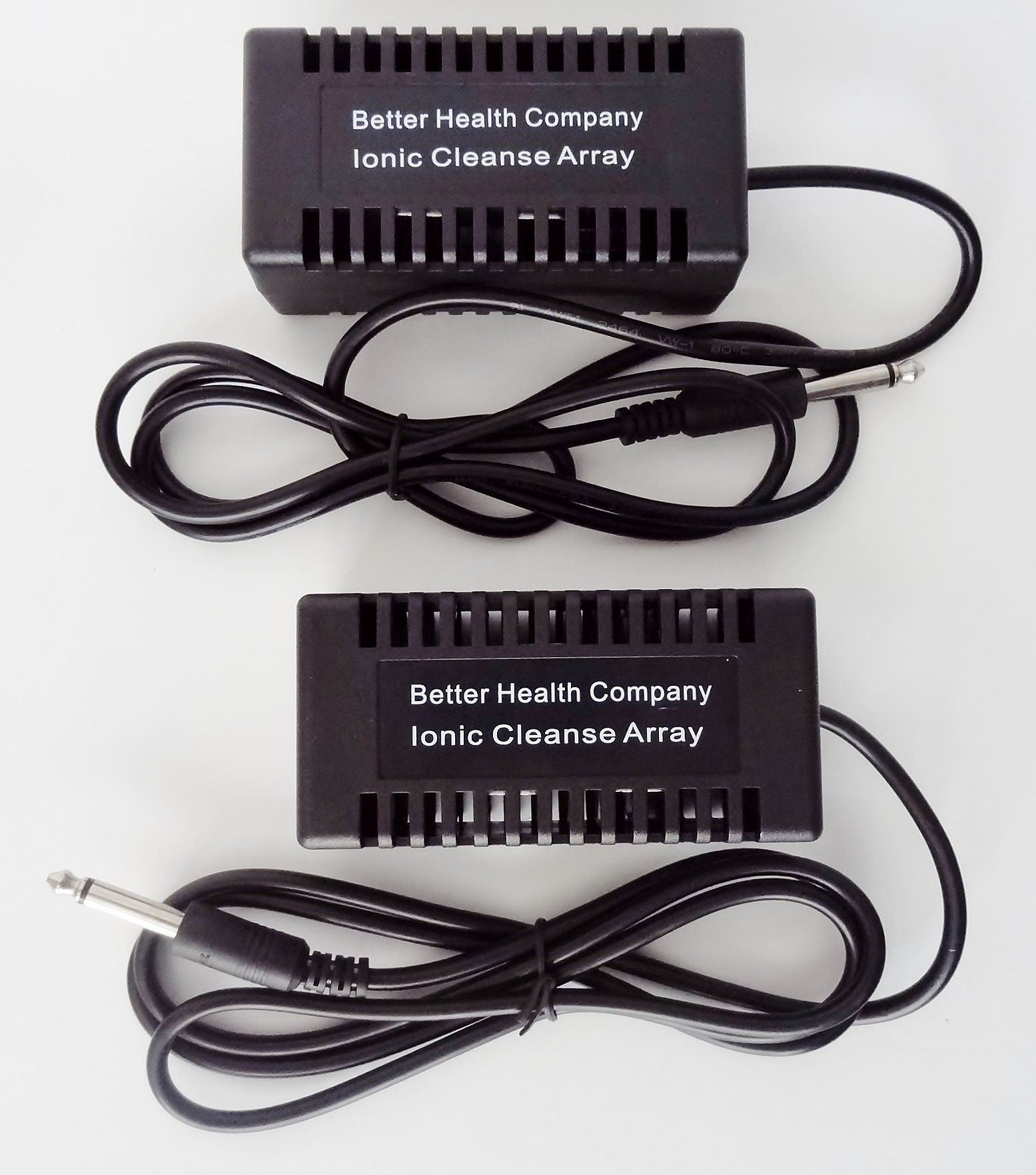 Rectangular Black Ionic Cleanse Detox Foot Spa Arrays by Better Health Company