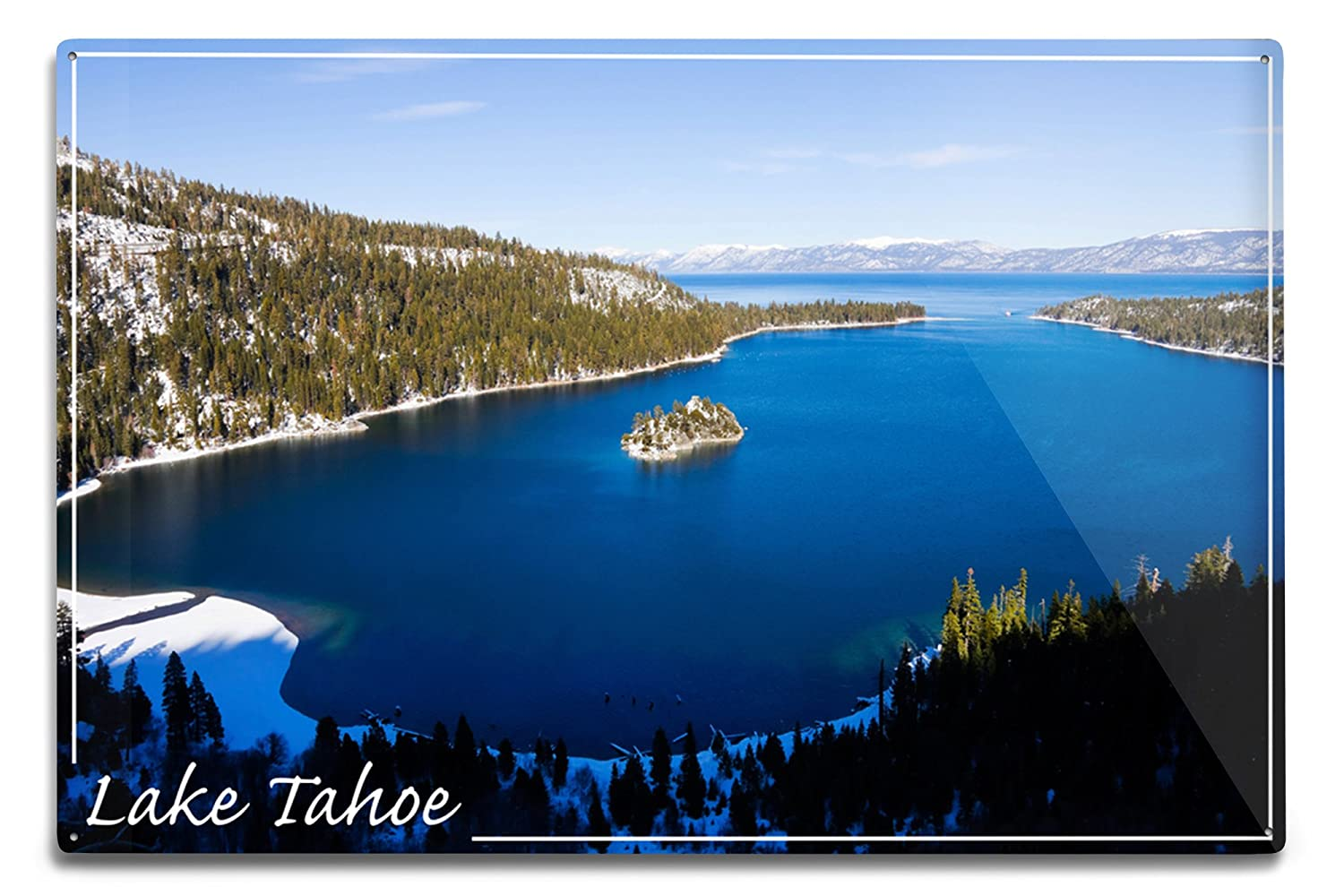 Lake Tahoe – エメラルドベイ冬の写真 12 x 18 Metal Sign LANT-46316-12x18M B06Y1FN6SY 12 x 18 Metal Sign12 x 18 Metal Sign