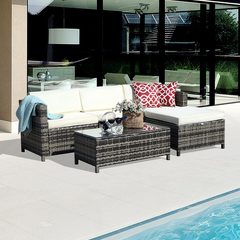 Amazon Outdoor Patio Furniture set 5pc PE Wicker Rattan