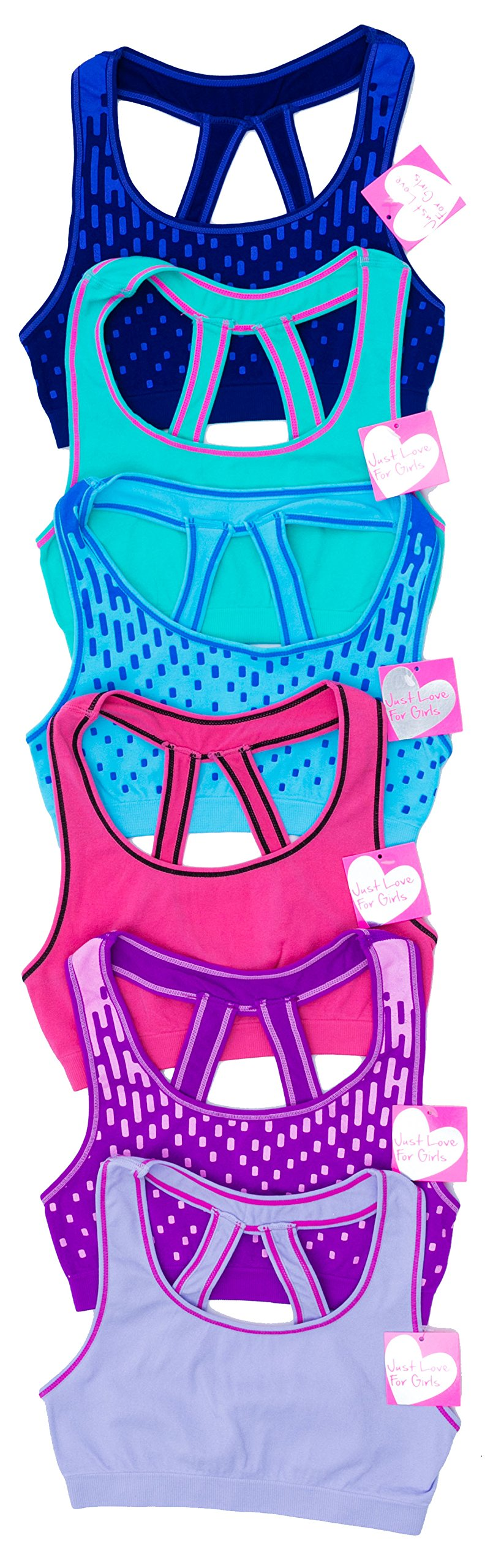 GB-6P-37005-L Just Love Girls Bras (Pack of 6)