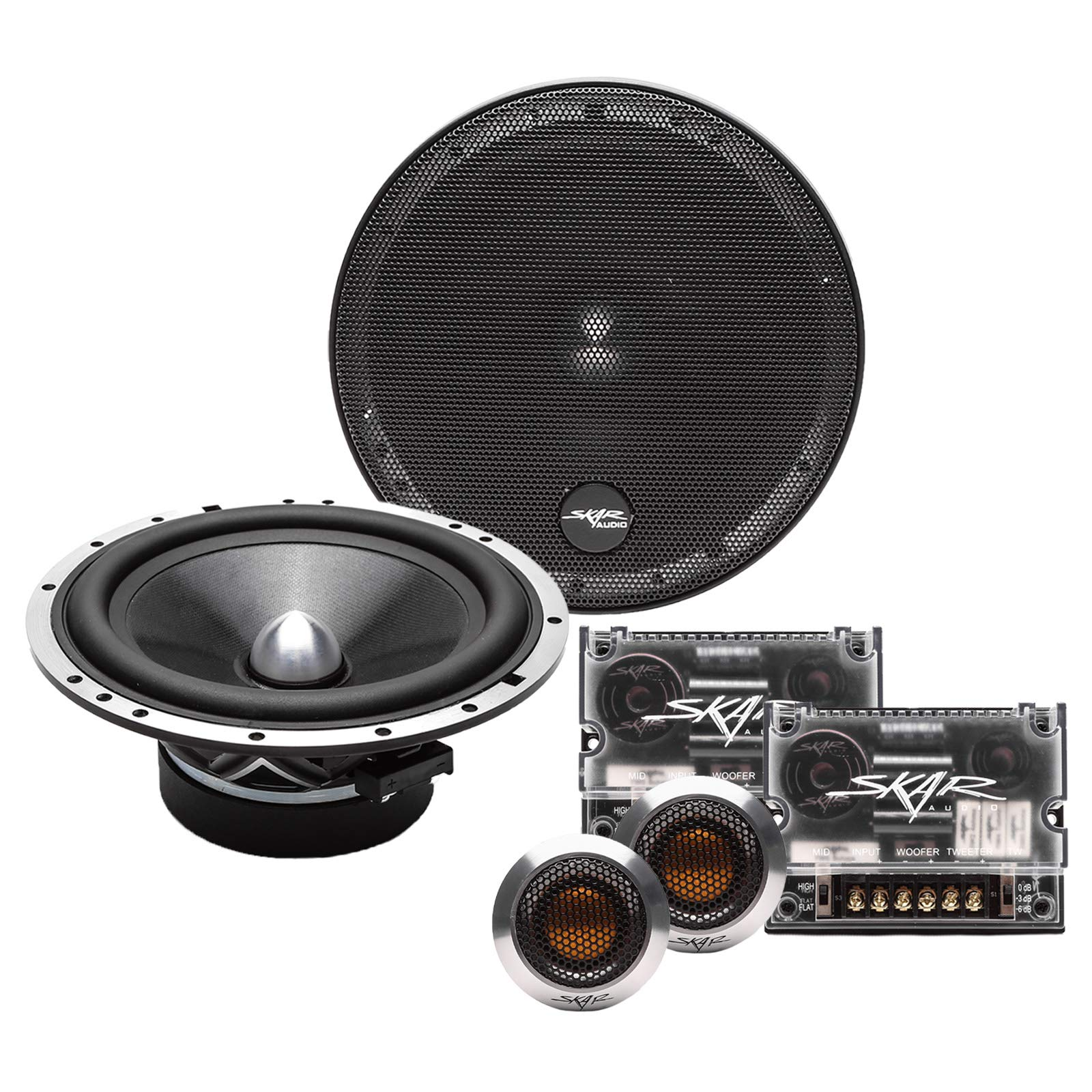 Skar Audio SPX-65C 6.5'' 2-Way High Performance Component Speaker System - Set of 2