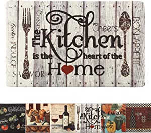 "Farmhouse Kitchen Rug Mats Cushioned Anti-Fatigue Comfort Mat for Home & Office Ergonomically Engineered Memory Foam Kitchen Rug Waterproof Non-Skid, 30"" by 18"",Home"