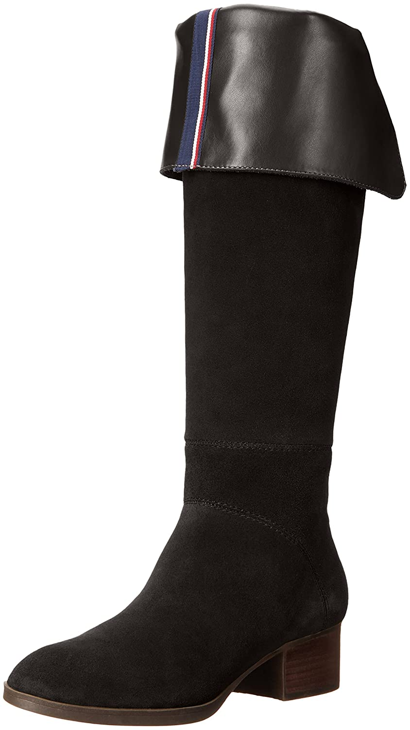 Tommy Hilfiger Women's Gianna Western Boot B01M0AAFPZ 9.5 B(M) US|Black Suede