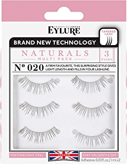 1a44a7f4f23 Eylure Naturals False Eyelashes Multipack, Style No. 020, Reusable,  Adhesive Included,