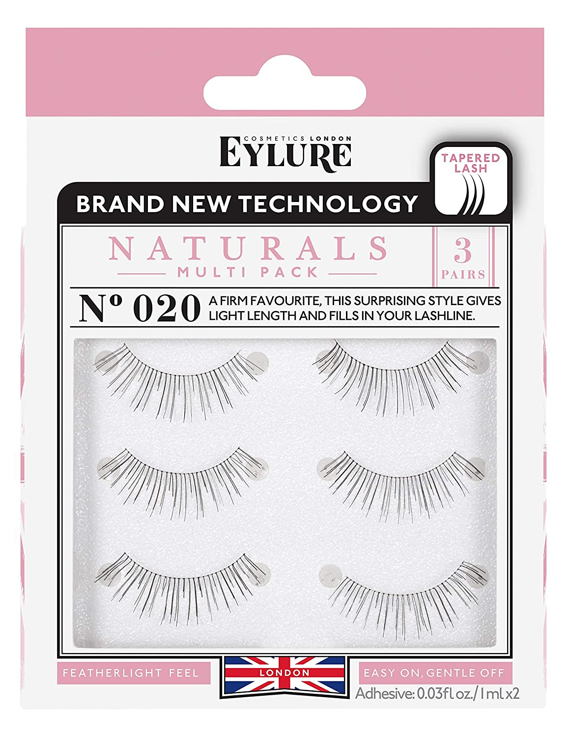 3baae48fa73 Eylure Naturals False Eyelashes Multipack, Style No. 020, Reusable ...