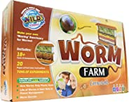 WILD! Science Worm Farm - Ages 6+ - Easy Assembly - Includes Worm Farm, Colored Sand, Accessories and Education & Instruction