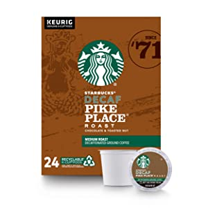 Starbucks Pike Place Roast Coffee K-Cup Pods | Medium Roast | Coffee Pods for Keurig Brewers | 1 Box (24 Pods)