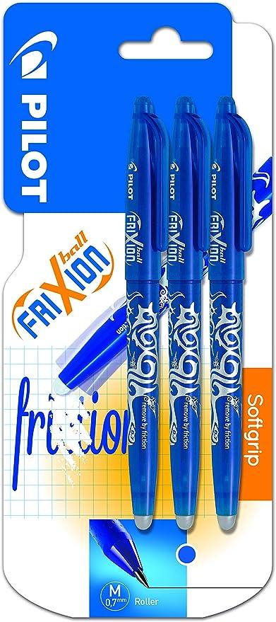 Pilot FriXion Ball - Pack de 3 bolígrafos roller borrables (3 ...